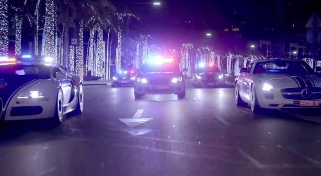 La police de Dubai fait son show avec ses voitures de luxe