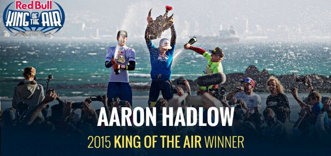 Red Bull King of the Air le kite à la sauce RedBull Aaron Hadlow