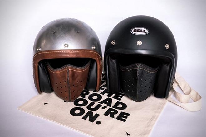 Masque en cuir ultra fin pour-motard-par-4H10 -bécane-moto-effronté-03