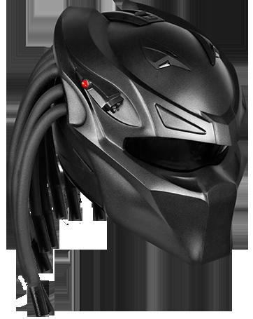 Casque De Moto Predator casque-de-moto-version -prédator-par-nlo-moto-predator-berserek