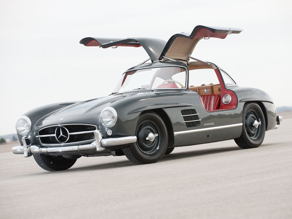 Mercedes benz 300sl gullwing de 1955 effront for Mercedes benz gullwing 1955