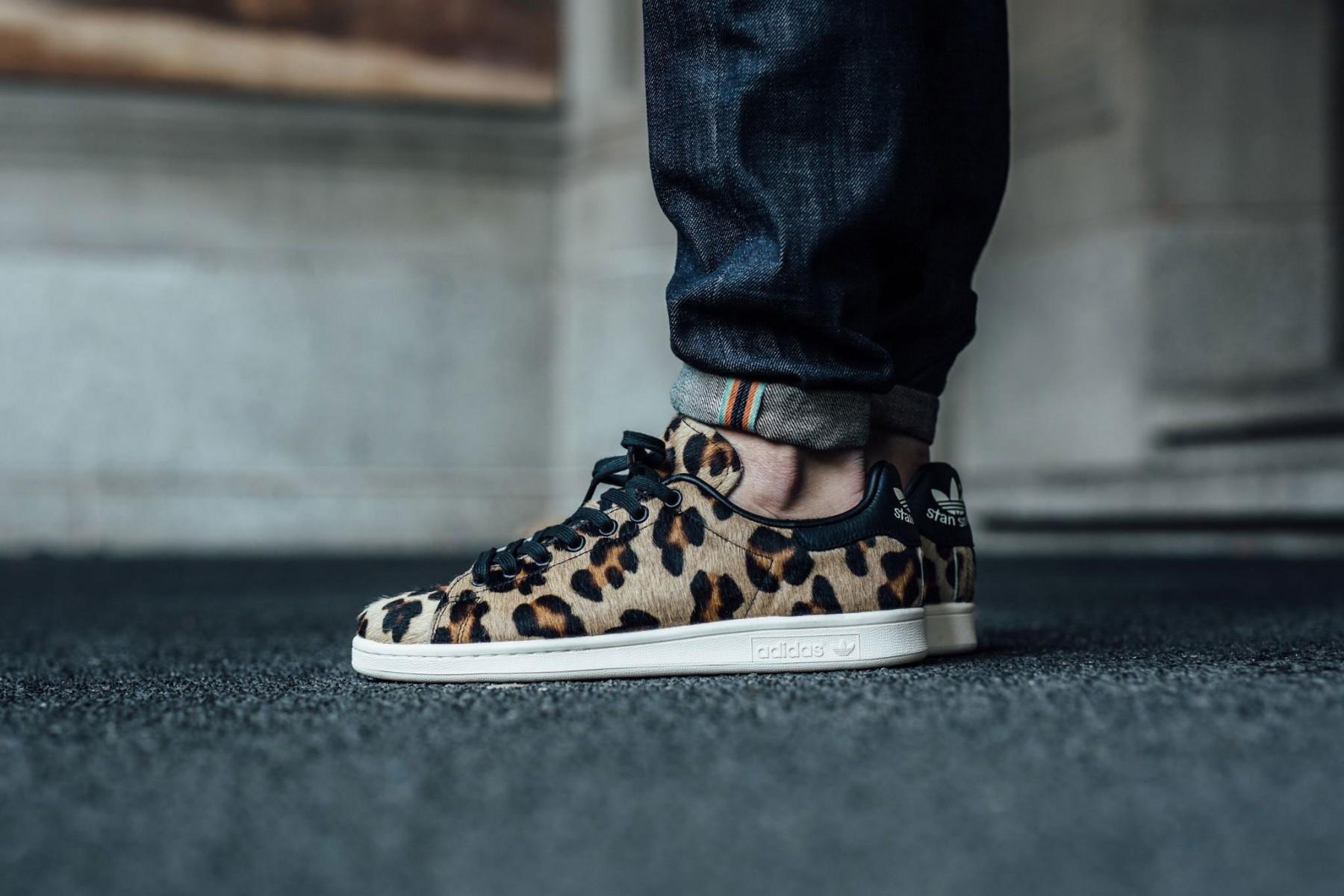 adidas leopard stan smith