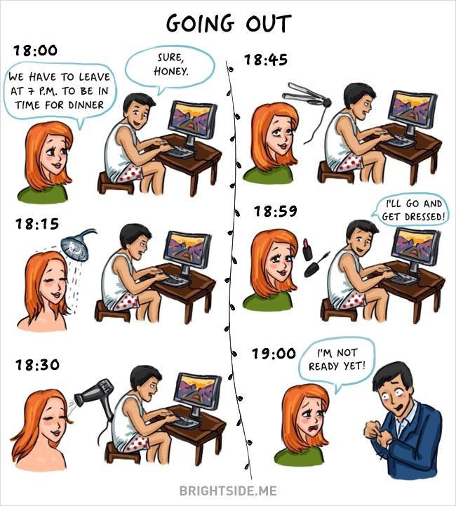 Des clichés tellement drôles sur les différences entre Hommes et Femmes 11
