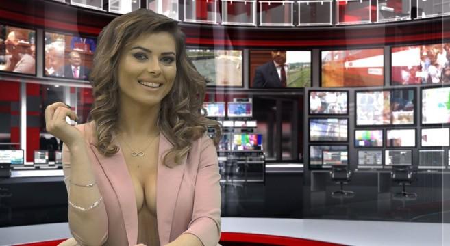 En Albanie, le JT presque complètement nu par Greta Hoxhaj pour la chaine Zjarr TV