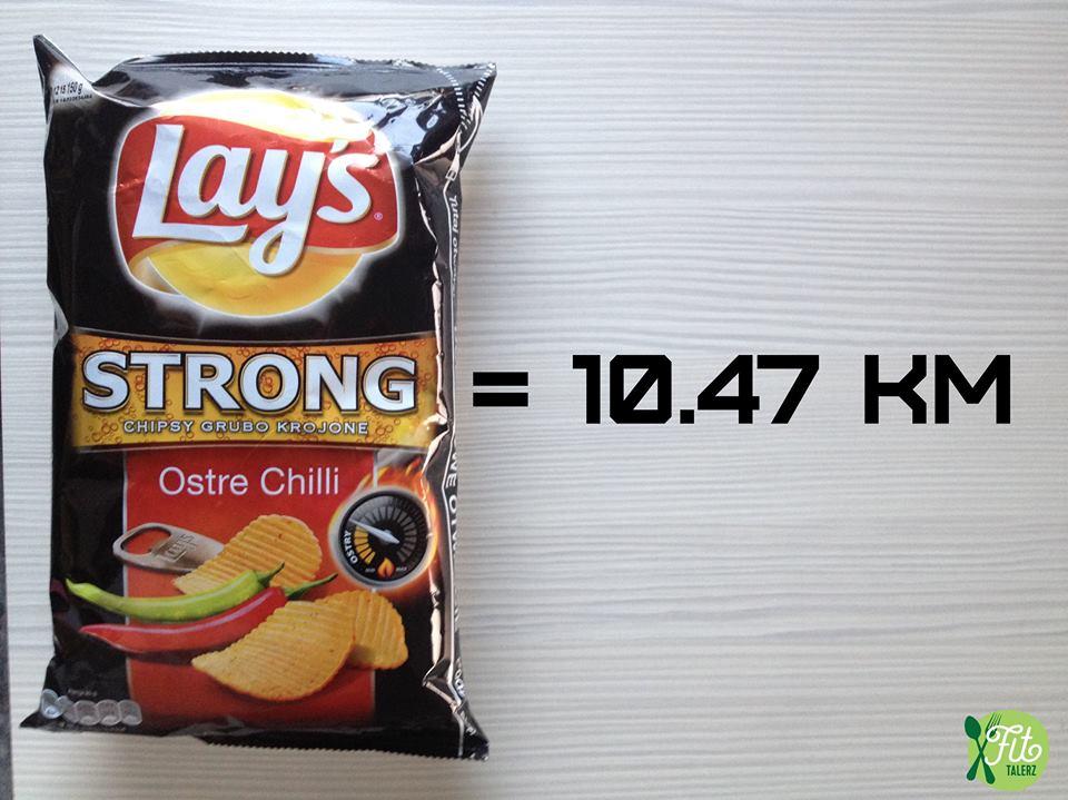 Fit Talerz-kilometre-à-parcourir-courrir-après-des-chips-Lays
