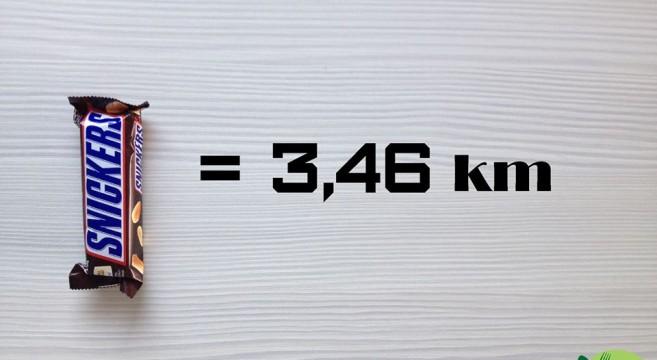 Fit Talerz-kilometre-à-parcourir-courrir-après-un-Snickers