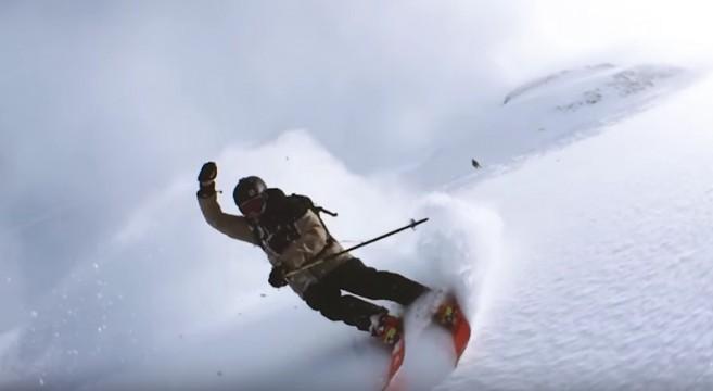 Nicolas Vuignier-Centriphone-le-rider-suisse-se-filme-en-train-de-skier-en-tenant-un-iPhone-accroché-à-un-lasso