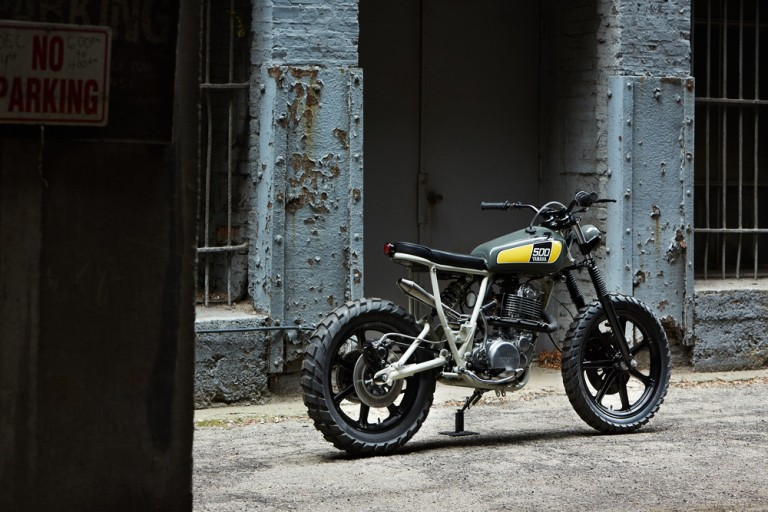 Powder Monkees Yamaha Sr500 | Tracker motorcycle