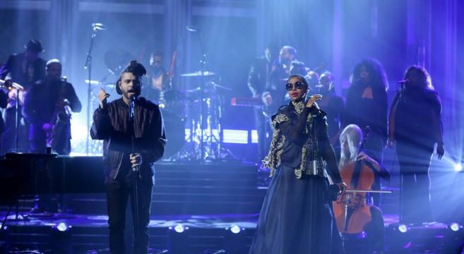 The Weeknd et Lauryn Hill interprètent - In The Night - dans The Tonight Show de Jimmy Fallon