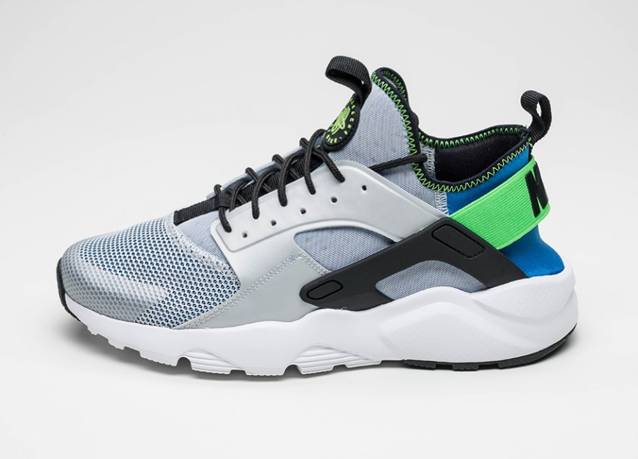 Nike Air Huarache Ultra - Bleu royal-Vert criard-sneaker-effronté-01