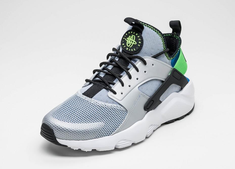Nike Air Huarache Ultra - Bleu royal-Vert criard-sneaker-effronté-02