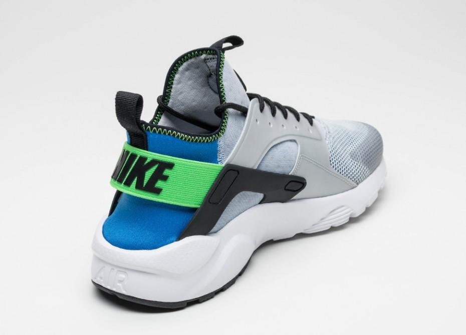 Nike Air Huarache Ultra - Bleu royal-Vert criard-sneaker-effronté-03