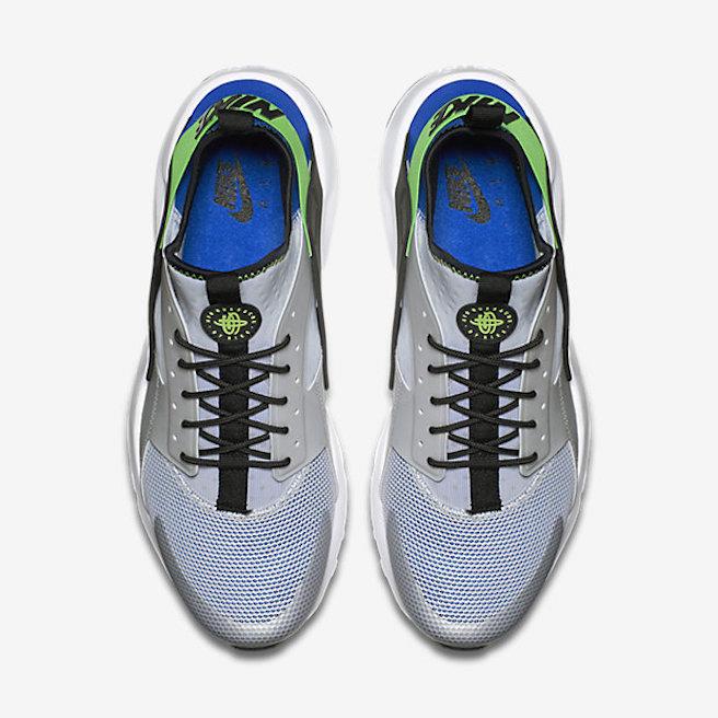 Nike Air Huarache Ultra - Bleu royal-Vert criard-sneaker-effronté-04