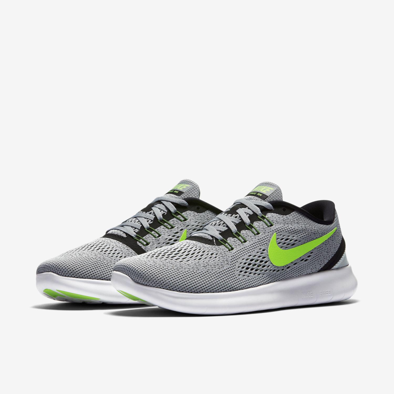 Nike Free RN Anthracite - Noir - Vert électrique-effronté-01