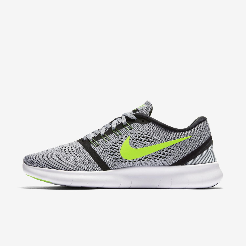 Nike Free RN Anthracite - Noir - Vert électrique-effronté-03