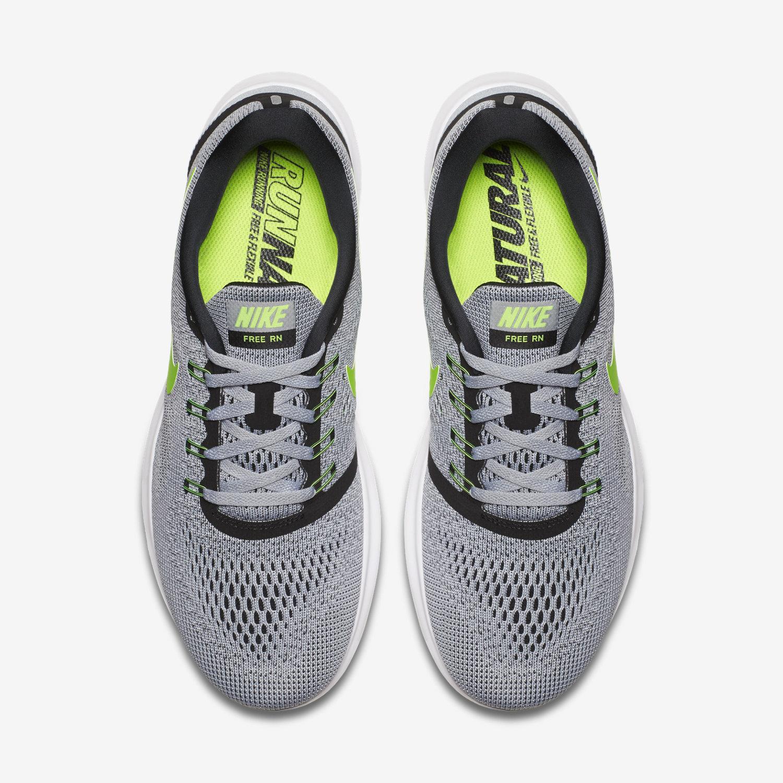 Nike Free RN Anthracite - Noir - Vert électrique-effronté-04