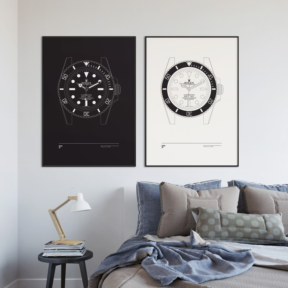 Nine37-affiches-de-montres-horlogerie-design-minimaliste-poste-qualité-rolex-patek-omega-IWC-effronté-01