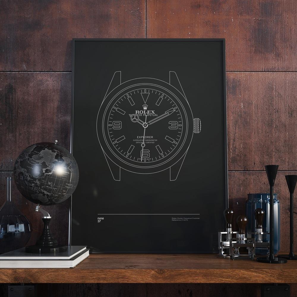Nine37-affiches-de-montres-horlogerie-design-minimaliste-poste-qualité-rolex-patek-omega-IWC-effronté-02