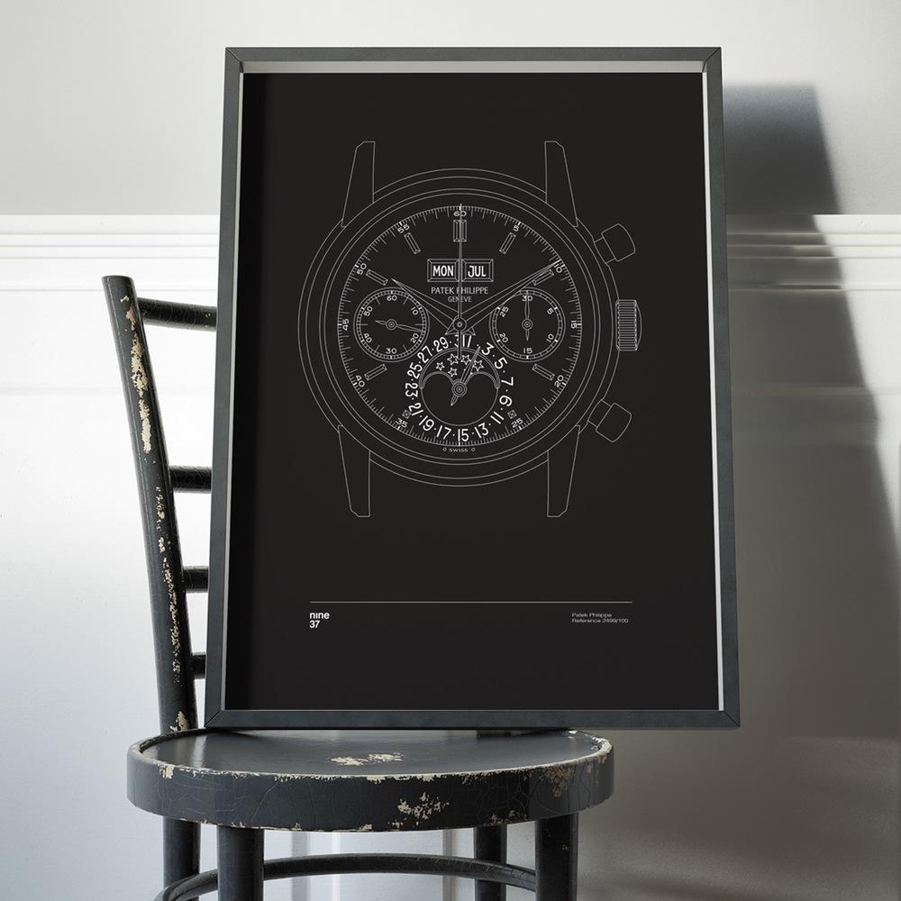 Nine37-affiches-de-montres-horlogerie-design-minimaliste-poste-qualité-rolex-patek-omega-IWC-effronté-03