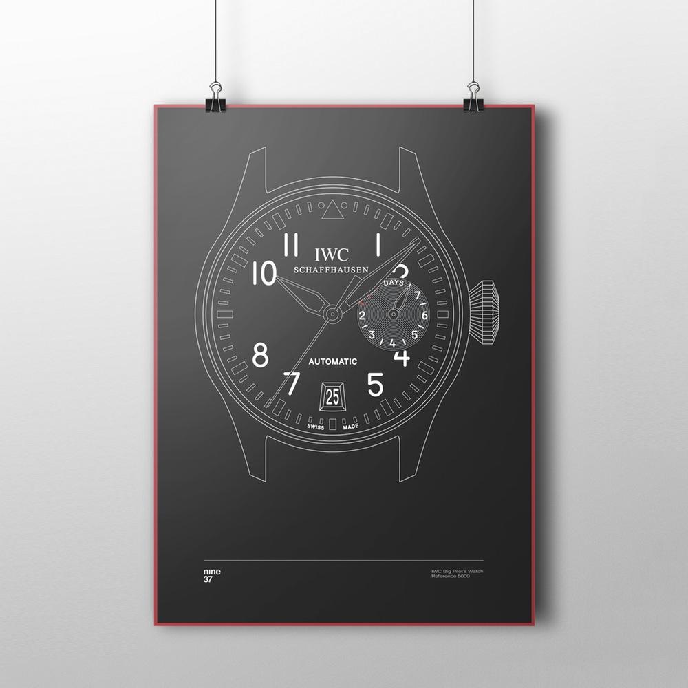Nine37-affiches-de-montres-horlogerie-design-minimaliste-poste-qualité-rolex-patek-omega-IWC-effronté-06