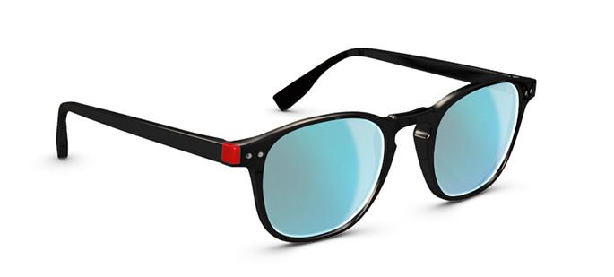 SIMPLE HOFF noir bleu ciel miroir black milky blue les lunettes de soleil idéales pour vos vacances verres mirroir miroité effronté