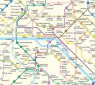 La carte du métro de Paris avec le prix des pintes de bière par station 01