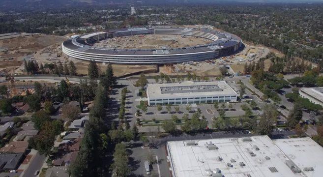 Nouvelle vidéo de l'Apple Campus 2 en 4k Duncan Sinfield Matthew Roberts effronté