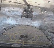 Comment poser un hélicoptère en pleine tempête !