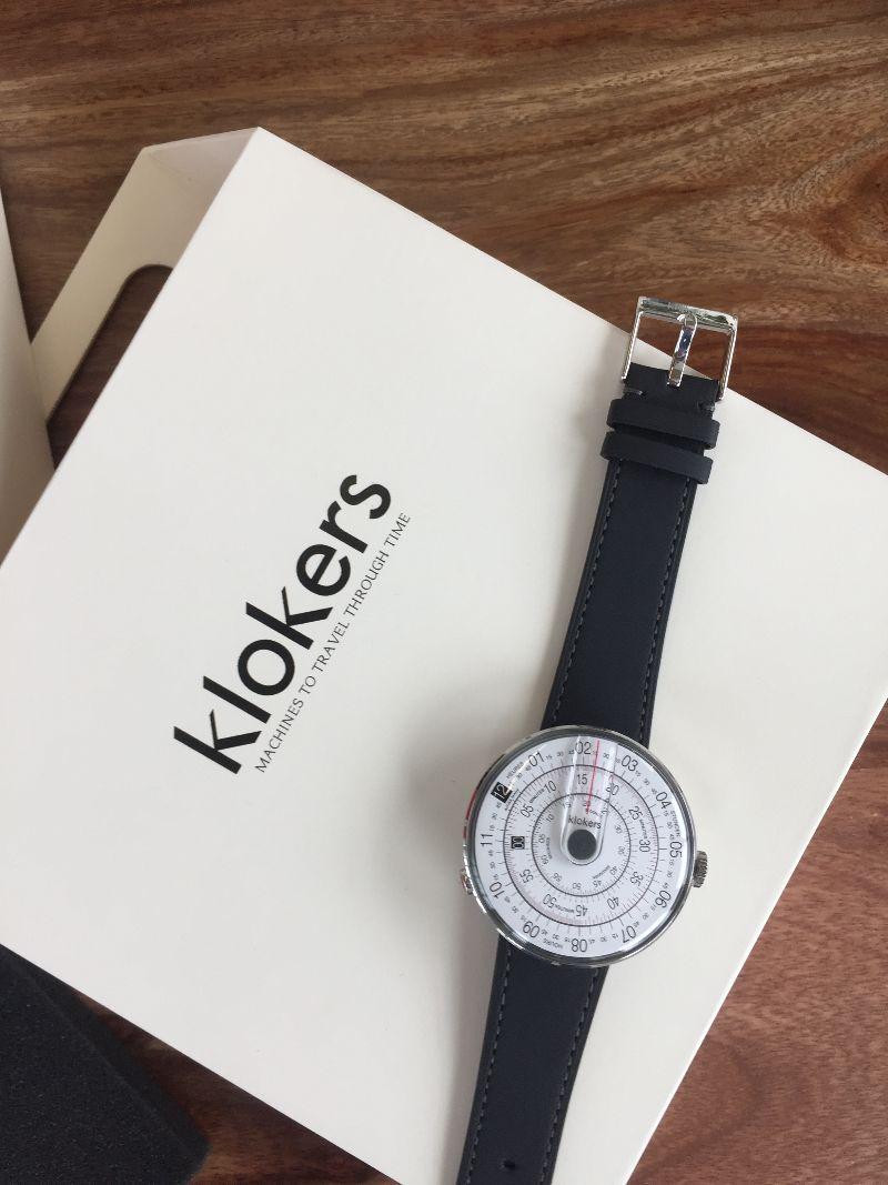 Montre Klokers KLOK-01, cadeau parfait pour la Saint-Valentin packaging expérience qualité montre cadran sens inverses effronté 09