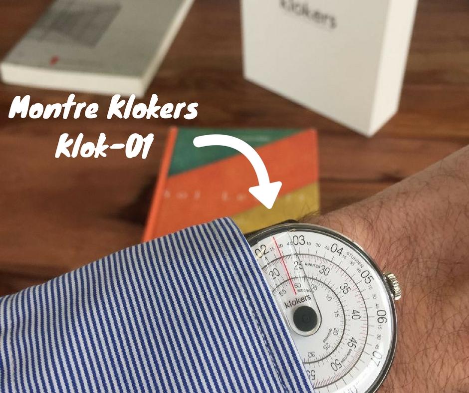 Montre Klokers KLOK-01, cadeau parfait pour la Saint-Valentin packaging expérience qualité montre cadran sens inverses effronté cover 01