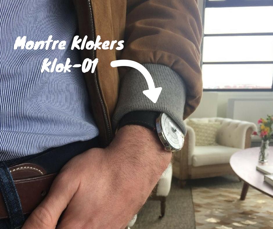 Montre Klokers KLOK-01, cadeau parfait pour la Saint-Valentin packaging expérience qualité montre cadran sens inverses effronté cover 02