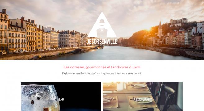 Page présentation du site Jesorsenville, Lyon, adresses, gourmand, tendance, bar, restaurant, café, musée, galerie