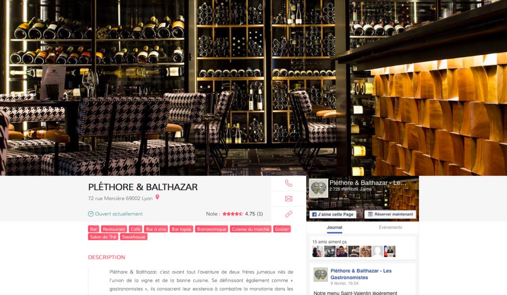 Présentation d'un établissement, Pléthore & Balthazar, adresse, bar à vin, bar à tapas, restaurant