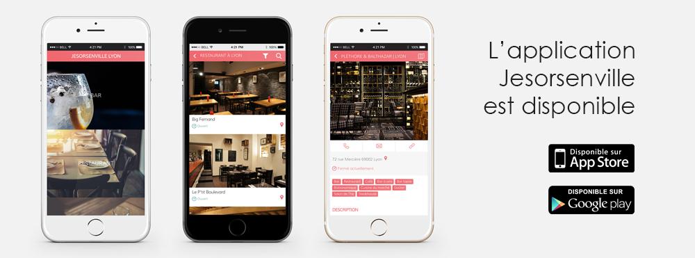 L'application Jesorsenville est disponible sur l'Appstore et sur Google Play, adresses, gourmand, tendance, bar, restaurant, café, musée, galerie